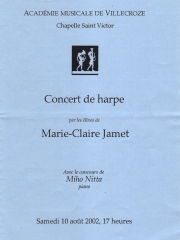 10 August 2002  - Concert of Marie - Claire JAMET and Masterclass Students