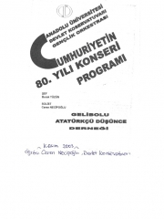 October - November 2003 - Eskisehir – Accompanied by Anadolu University Youth Symphony Orchestra - Soloist Concert (Lüleburgaz, Kırklareli, Gallipoli Concerts as part of the 80th Anniversary of the Republic)