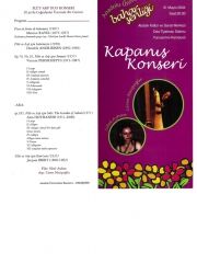 31 May 2004 - Eskisehir -Anadolu University Spring Festival Closing Concert - Flute and Harp Duo Concert