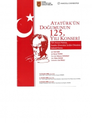 7, 8, 11 ve 14 December 2006 - Eskisehir, İstanbul, Ankara - The 125th Anniversary Of Atatürk's Birth. Concerts - Orchestral Artist